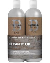 Billede af TIGI Bed Head For Men Clean It Up Shampoo plus Balsam (2x750ml)